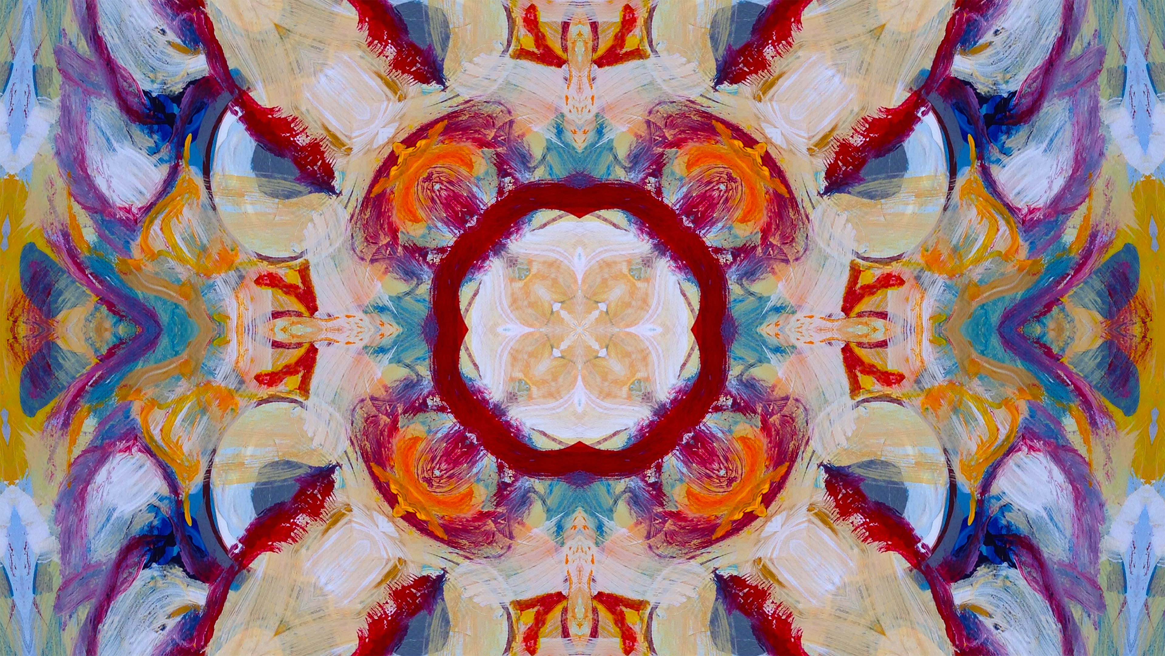mandala print detail from a 4k video prepared for viewing using the Depict system. http://depict.com